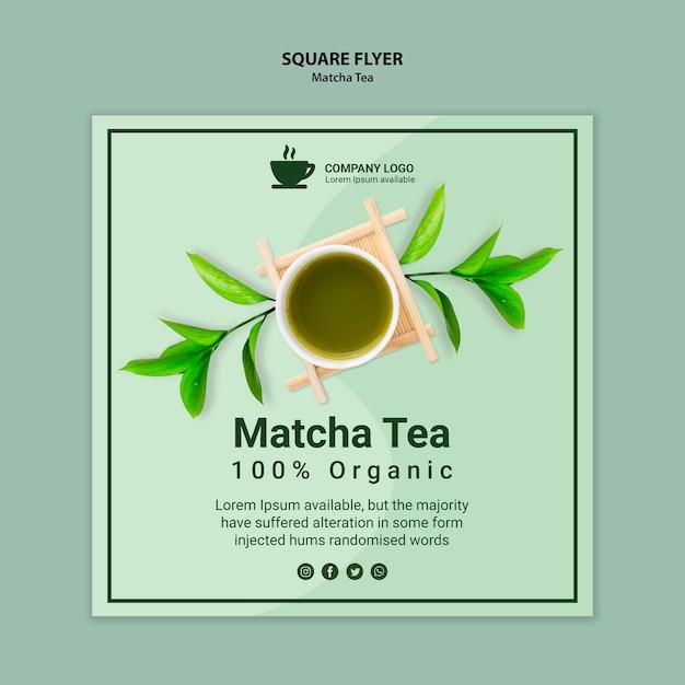 Matcha thee flyer sjabloon concept Gratis Psd