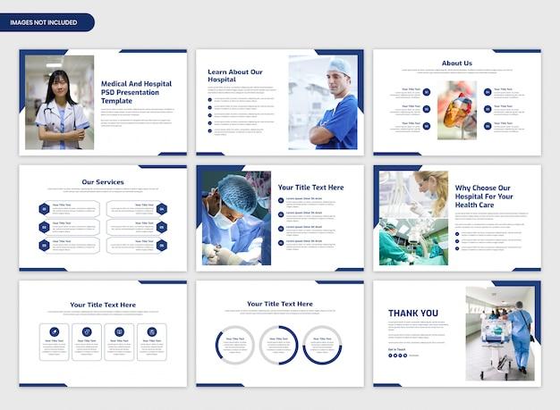 Medische en ziekenhuis presentatie schuifregelaar sjabloon Premium Psd
