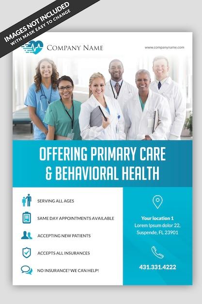Medische sjabloon folder Premium Psd