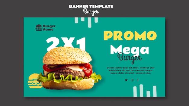 Mega burger banner websjabloon Gratis Psd