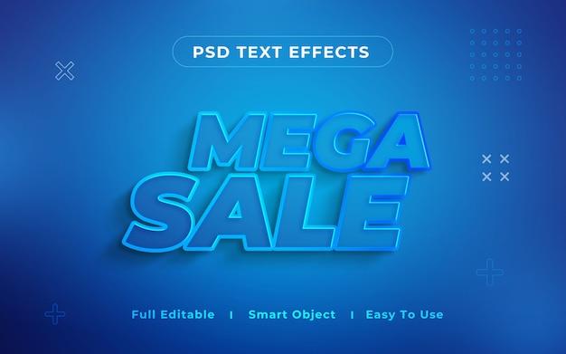 Mega-verkoop 3d-teksteffect Premium Psd