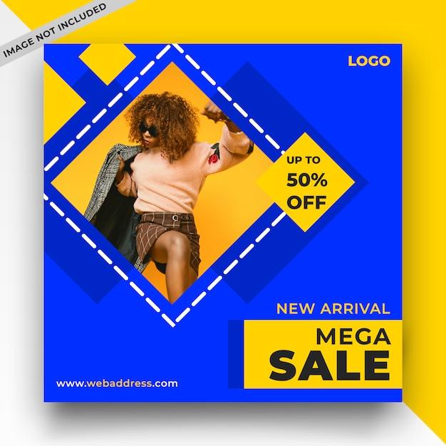 Mega verkoop sociale media berichtsjabloon Premium Psd