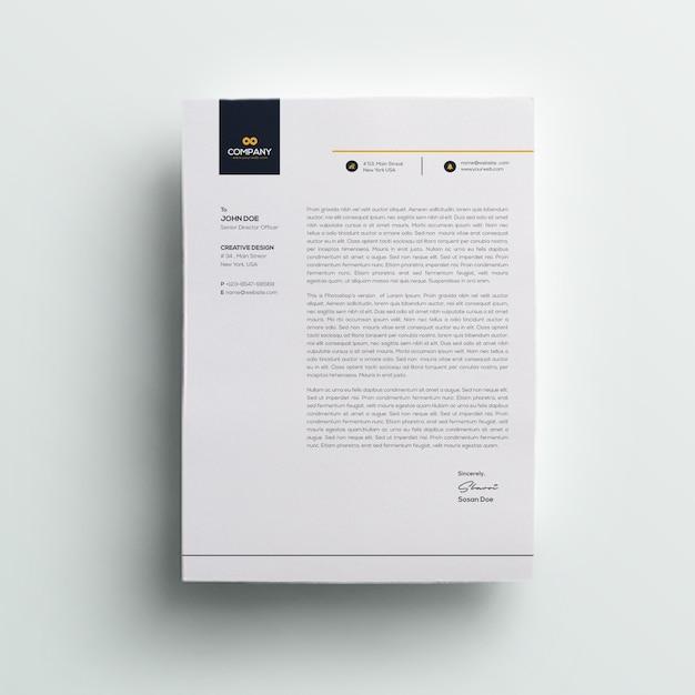 Membrete corporativo PSD Premium