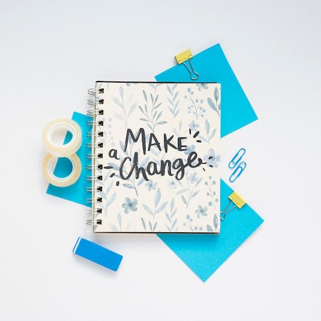 Mensaje Motivacional En El Cuaderno Archivo Psd Gratis