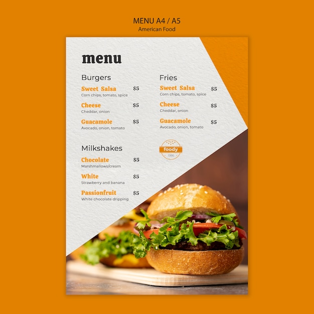 Menu cheeseburger en gezonde groenten Gratis Psd