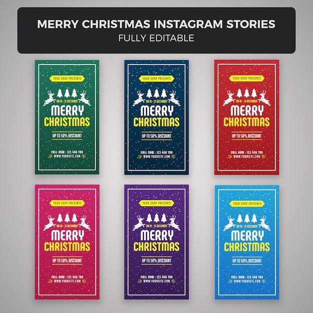 Merry christmas instagram verhalen banner ontwerp Premium Psd