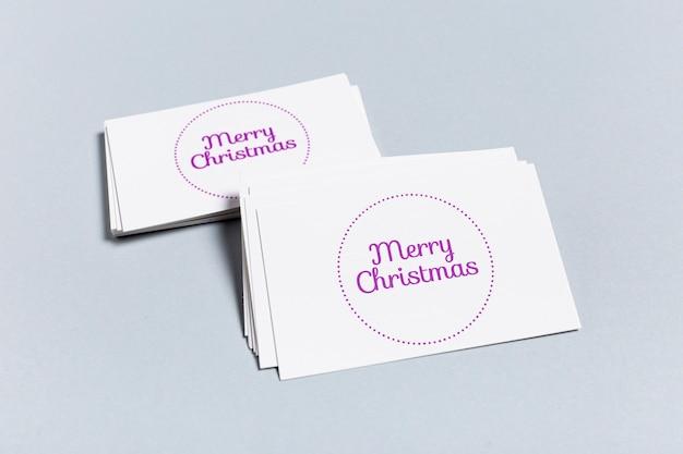 Merry christmas mock-up visitekaartje sjabloon Gratis Psd