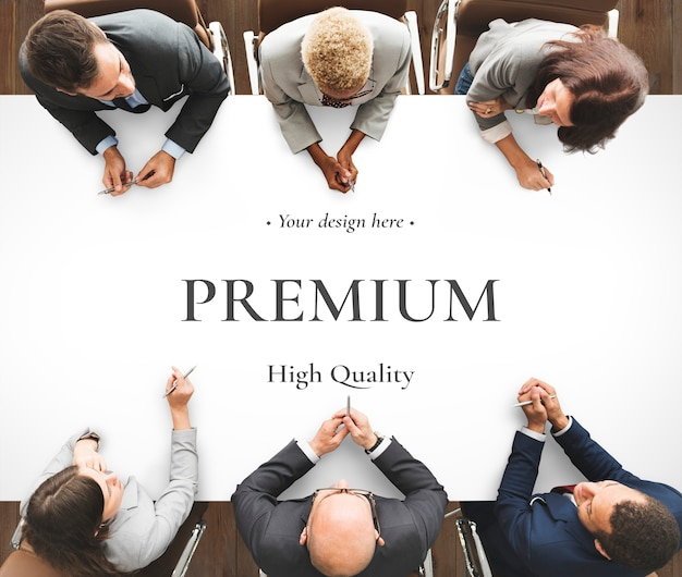 Mesa de la sala de reuniones de negocios PSD Premium