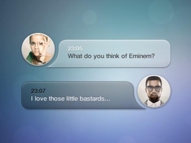 Message box met avatar psd Gratis Psd