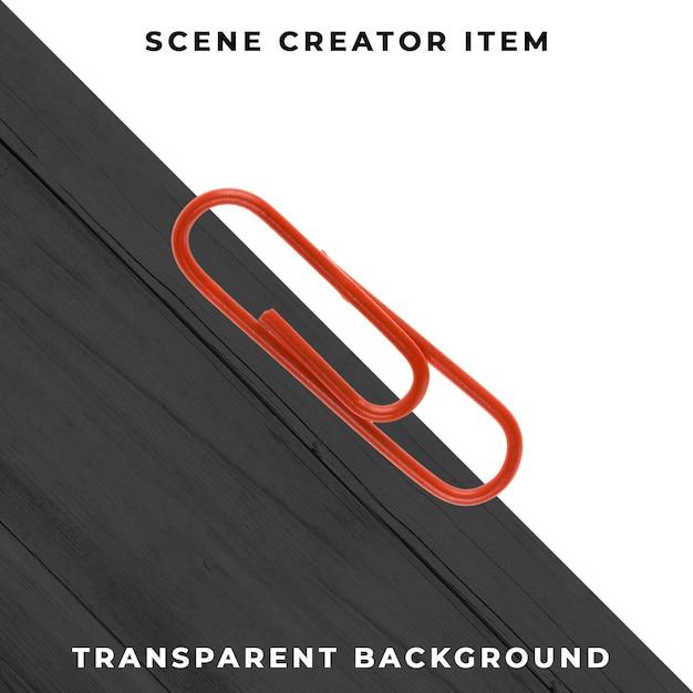 Metalen paperclip object transparant psd Gratis Psd