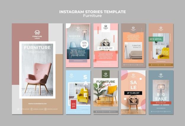 Meubelwinkel instagram verhalen sjabloon Gratis Psd