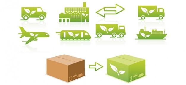 Mezzi di trasporto eco logo design Psd Gratuite