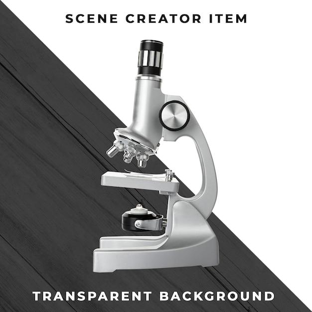 Microscoop die met het knippen van weg wordt geïsoleerd Premium Psd
