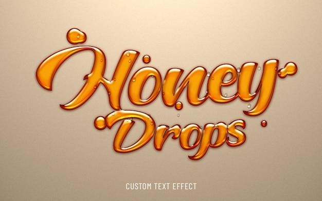 Miel cae efecto de texto líquido PSD Premium