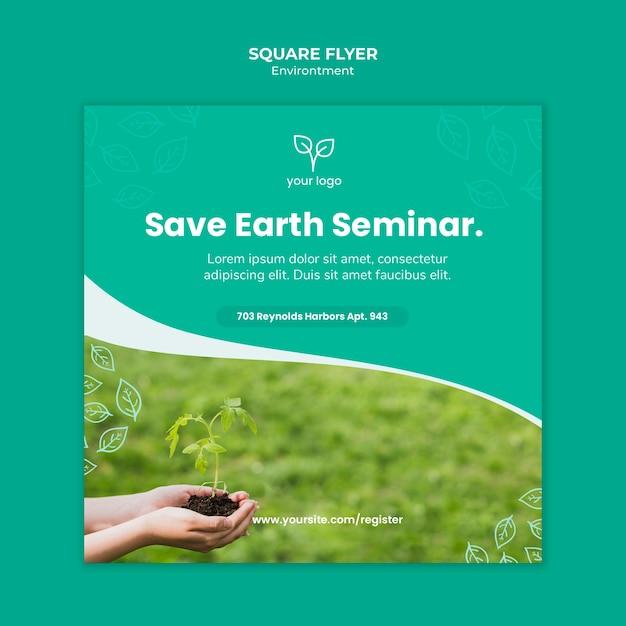 Milieu concept voor sjabloon folder Gratis Psd