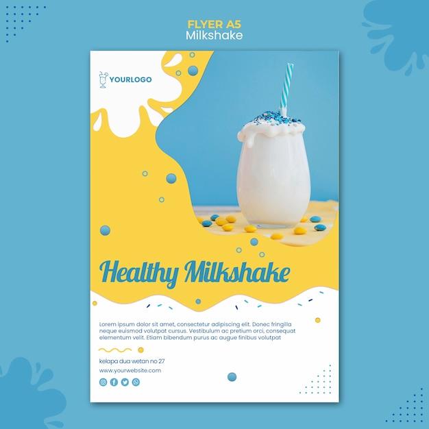 Milkshake flyer sjabloon thema Gratis Psd