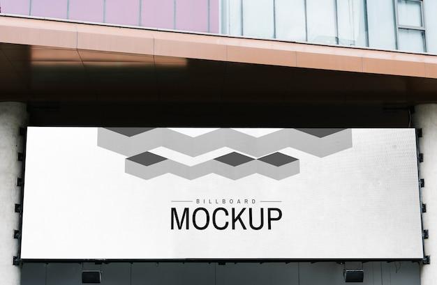 Minimaal grootschalig horizontaal billboardmodel Gratis Psd