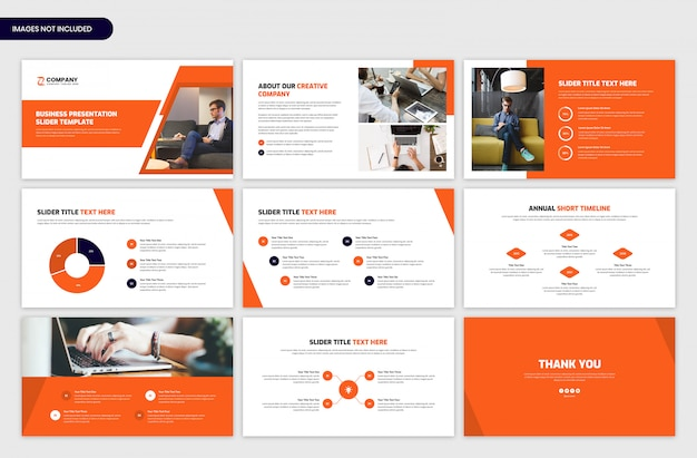 Minimal business presentatie slider sjabloon Premium Psd