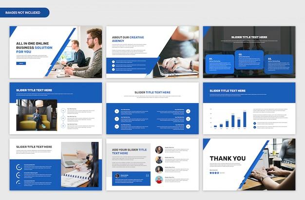 Minimale zakelijke presentatie schuifregelaar sjabloonontwerp Premium Psd