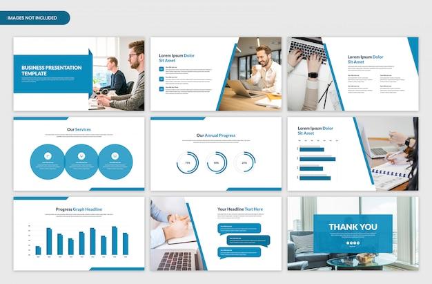 Minimale zakelijke presentatie slider sjabloonontwerp Premium Psd