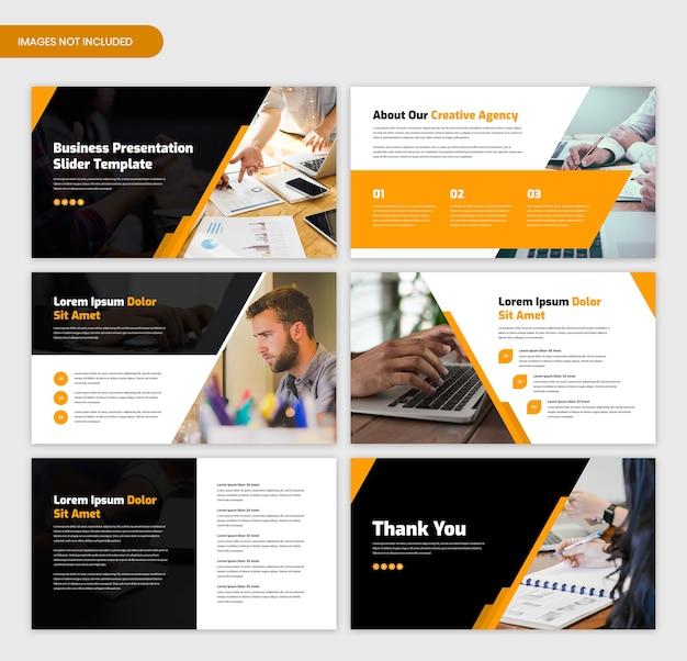 Minimale zakelijke presentatiesjabloon schuifregelaar Premium Psd
