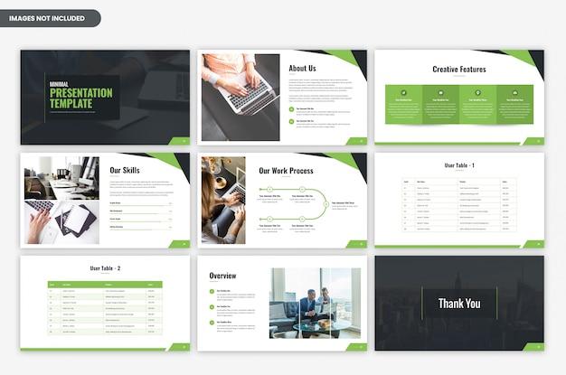 Minimale zakelijke presentatiesjabloon Premium Psd