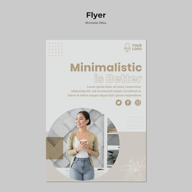 Minimalistisch kantoor flyer ontwerp Gratis Psd