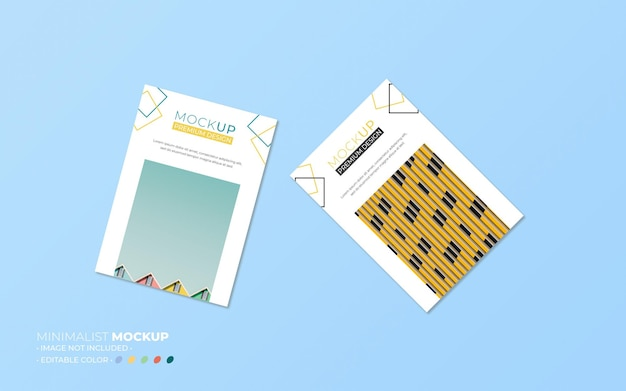 Minimalistische flyer mockup-samenstelling Premium Psd