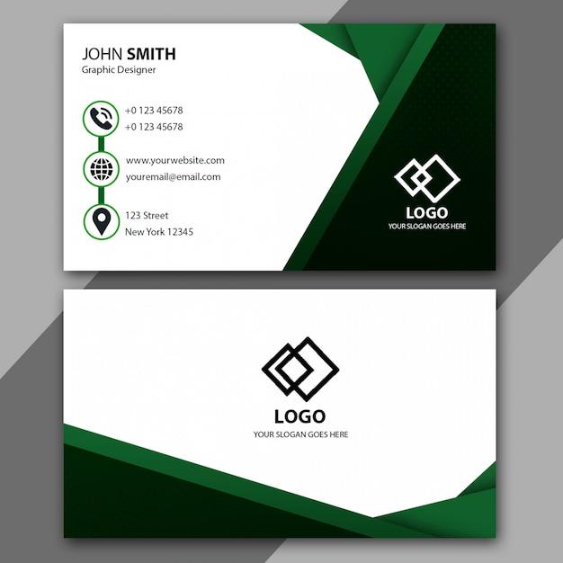 Minimalistische groene visitekaartjesjabloon Premium Psd