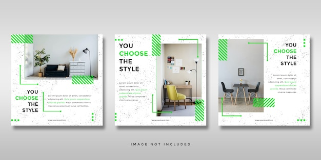 Minimalistische instagram social media post feed banner sjabloon Premium Psd