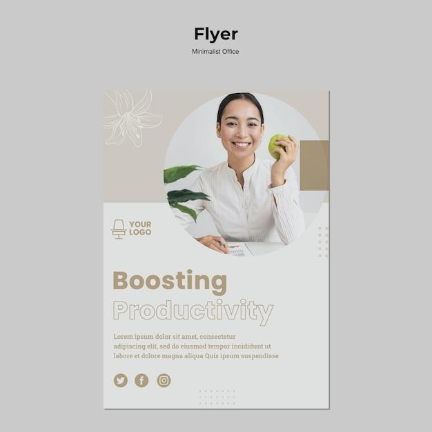 Minimalistische sjabloon voor office-flyer Gratis Psd