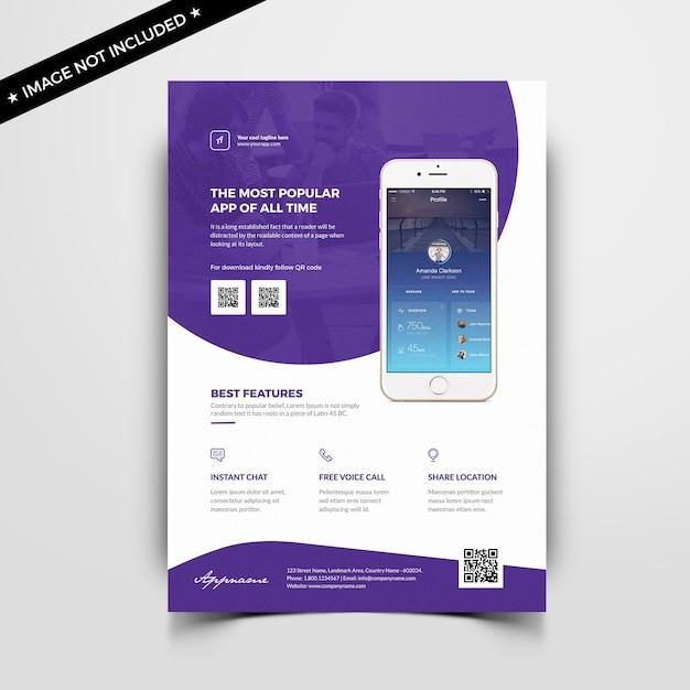 Mobiele app folder sjabloon Premium Psd
