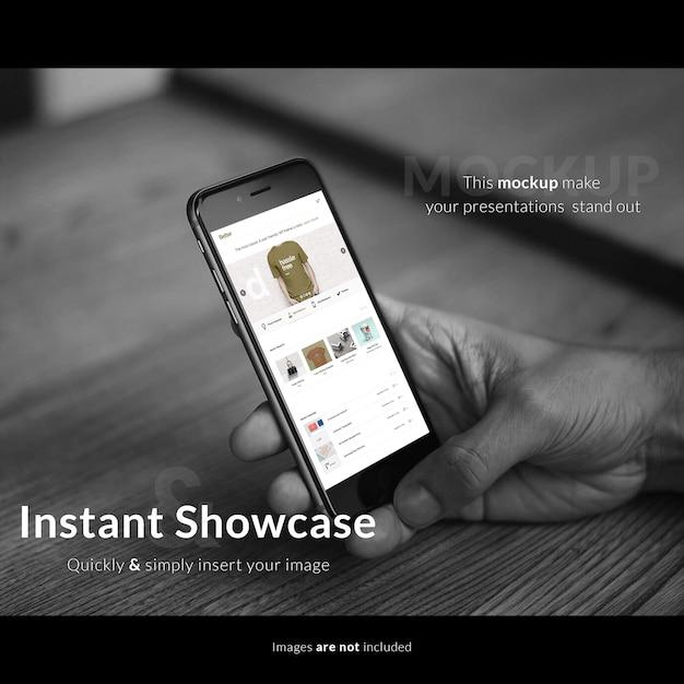 Mobiele telefoon scherm mock up ontwerp Premium Psd