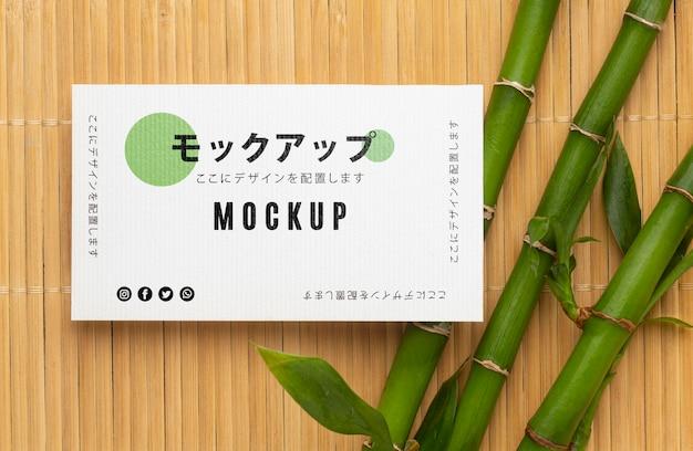 Mock-up assortiment voor visitekaartjes Gratis Psd