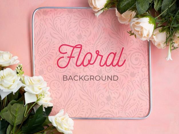 Mock-up bloeiende bloemen boeket Gratis Psd