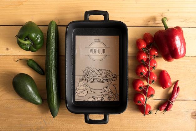 Mock-up concept van het voedselmenu Gratis Psd