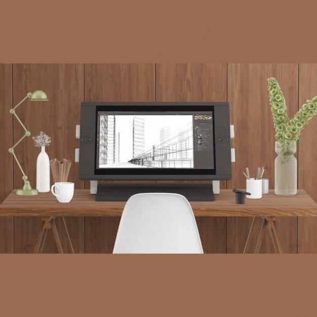 Mock up de espacio de trabajo de un dise ador descargar - Disenador de espacios ...