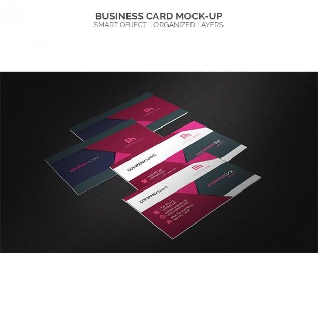 Mock up de tarjetas de visita multicolor | Descargar PSD gratis