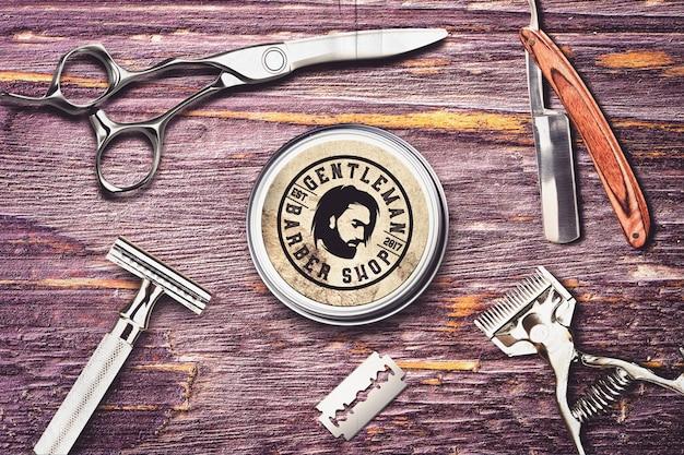 Mock-up del negozio di barbiere Psd Premium