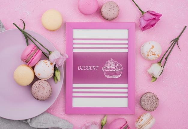 Mock-up delizioso concetto di dessert Psd Gratuite