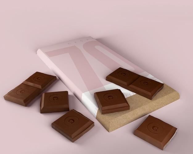 Mock-up di avvolgimento carta tavoletta di cioccolato Psd Gratuite