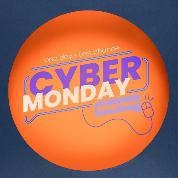 Mock-up di concetto di cyber lunedì Psd Gratuite