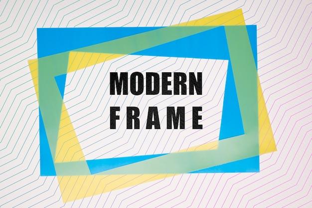 Mock-up di cornici moderne blu e giallo Psd Gratuite
