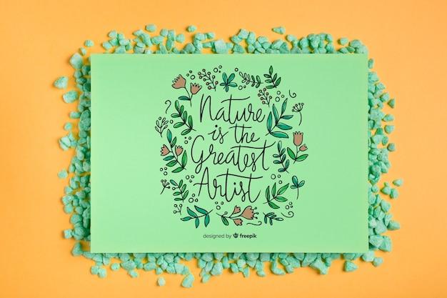Mock-up frame met inspirerende boodschap Gratis Psd