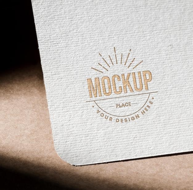 Mock-up getextureerde papieren kaart voor bedrijven Gratis Psd