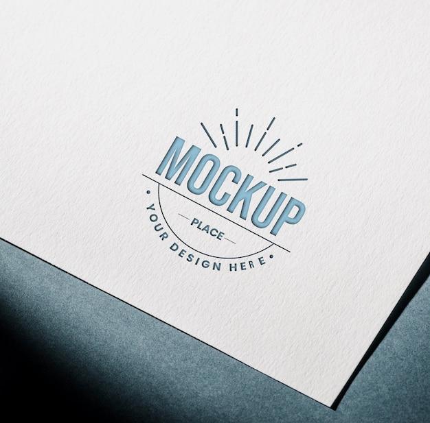 Mock-up geweven visitekaartje voor visitekaartjes Gratis Psd