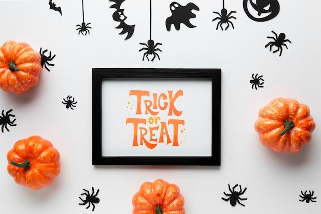 Mock-up halloween-dagviering Gratis Psd
