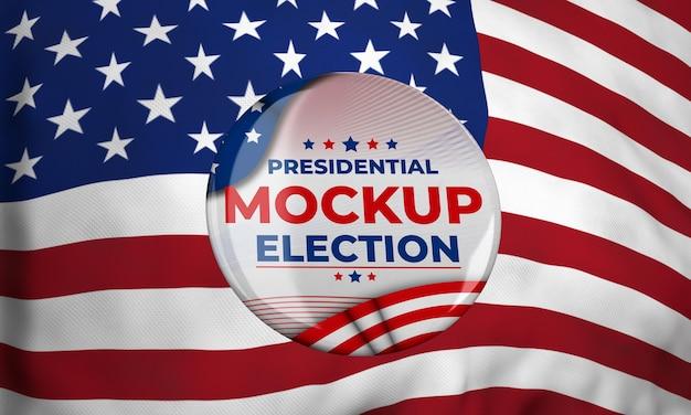 Mock-up insignes van de presidentsverkiezingen voor de verenigde staten Gratis Psd
