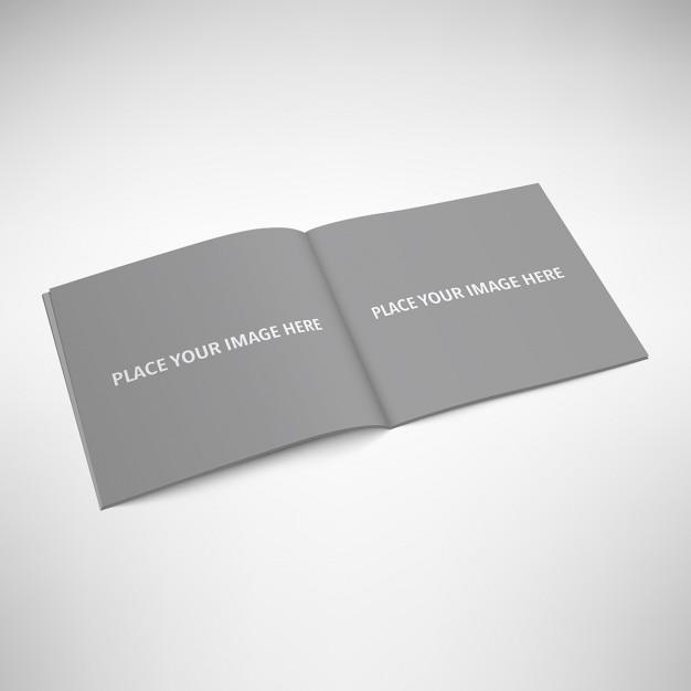 Mock up de libro abierto PSD gratuito