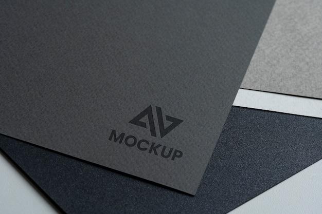 Mock-up logo-ontwerp hoge weergave Gratis Psd